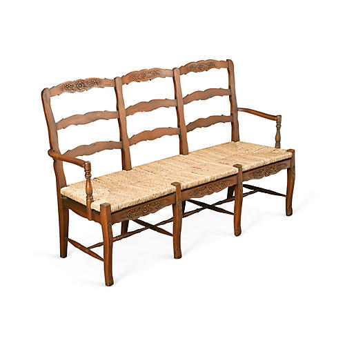 Alexandra 3-Seater Bench, Honey/Straw