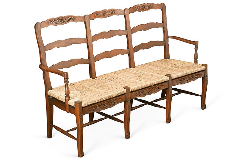 Miraculous Alexandra 3 Seater Bench Honey Straw Benches Banquettes Gmtry Best Dining Table And Chair Ideas Images Gmtryco