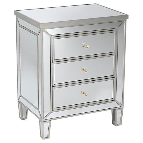 Bella 3-Drawer Dresser, Mirrored