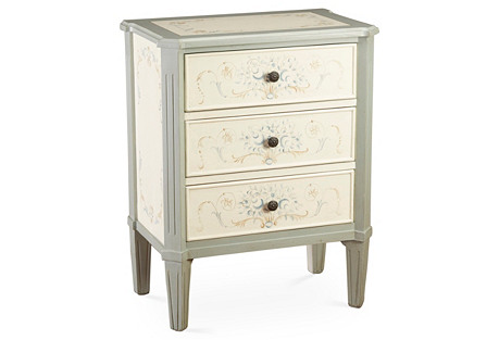 Francesca 3-Drawer Side Table
