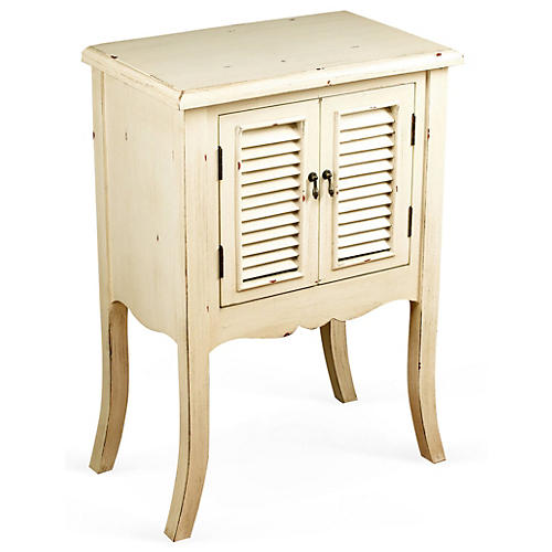 Hadley 2-Door Nightstand, Ivory