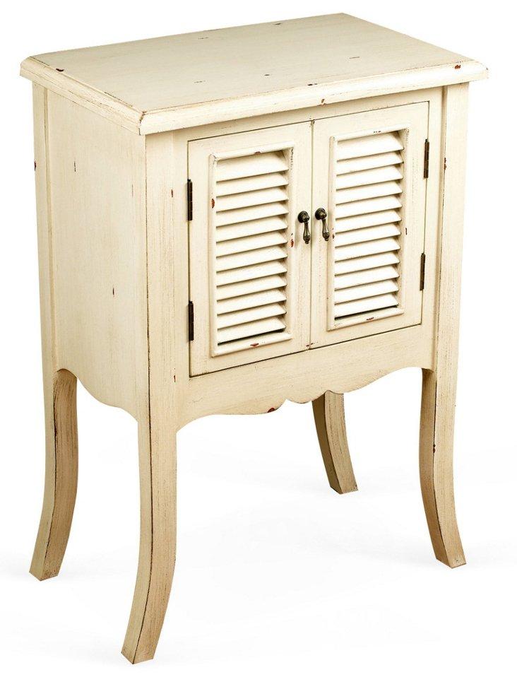 Hadley 2-Door Nightstand, Ivory