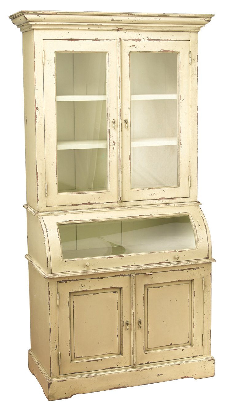 Julia Cabinet, Distressed Parchment