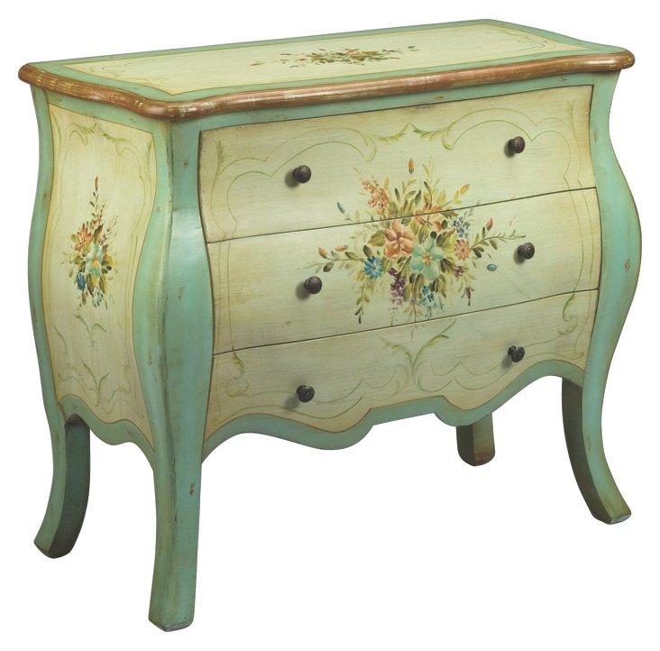 Hattie Dresser, Cream/Blue