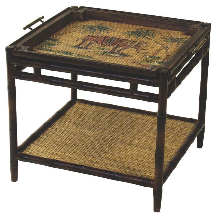 Morrison Tray Table, Wenge/Multi
