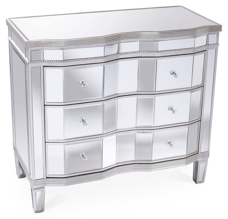 Kingston Mirrored Dresser, Silver/Gold