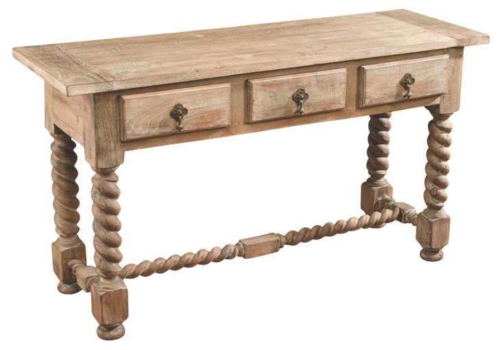 Cole Console, Weathered Natural
