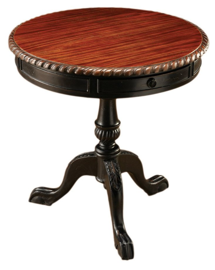Bianca Side Table, Parchment