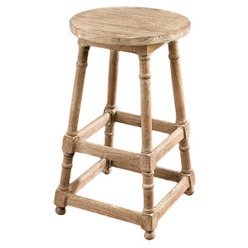 Winslow Backless Barstool, Natural