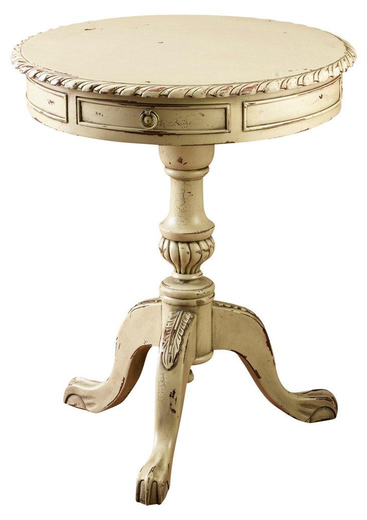 Mel Lamp Table, Parchment