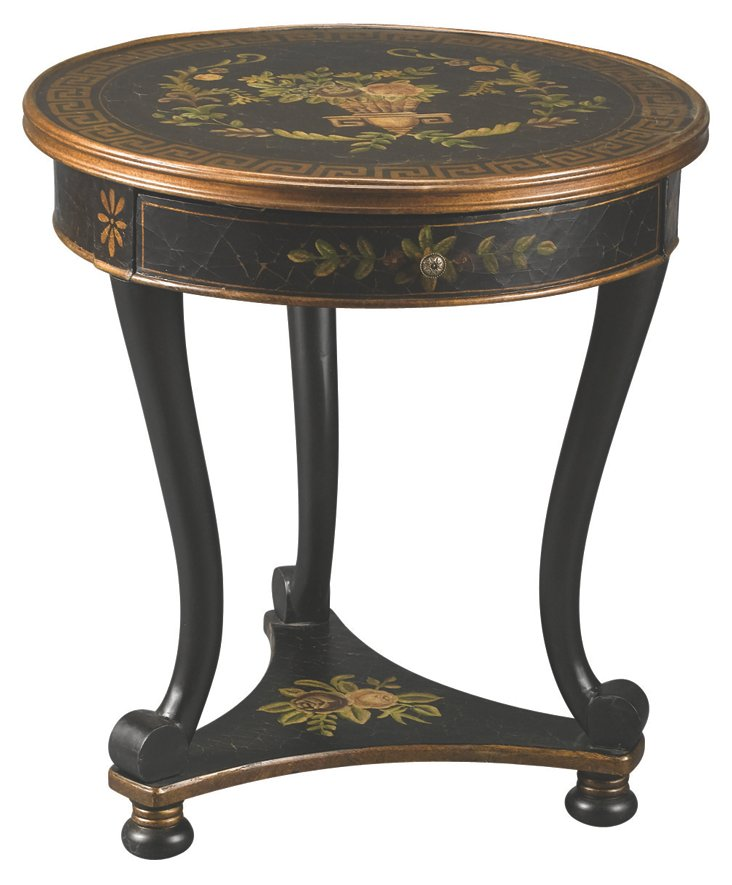 Hannah Lamp Table, Black/Gold