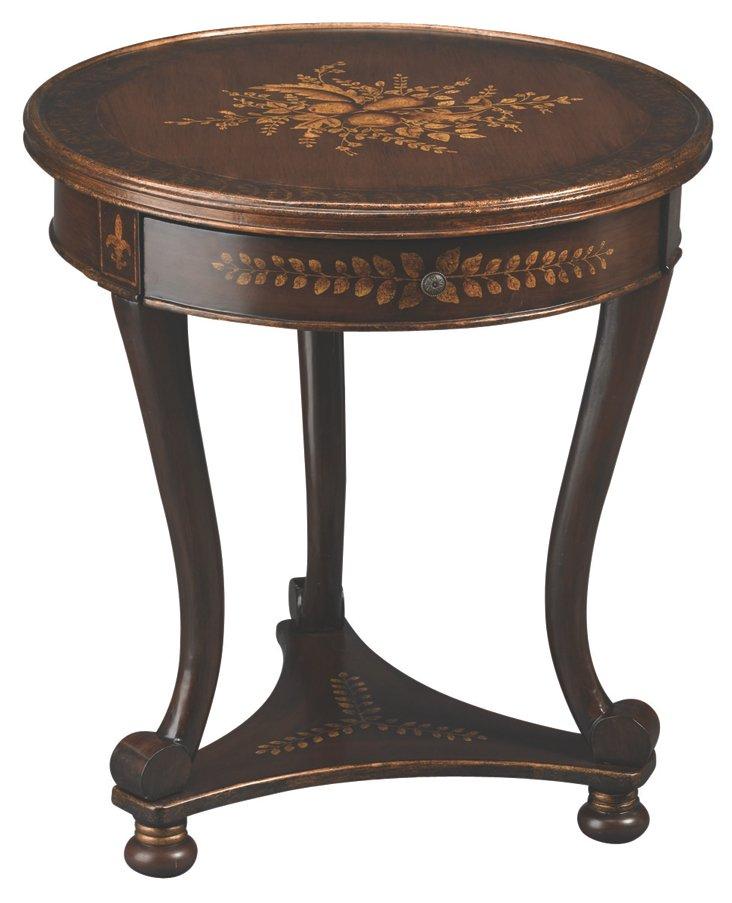 *Hannah Lamp Table, Dark Waln