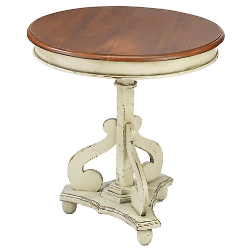 Victor Side Table, Walnut/Ivory