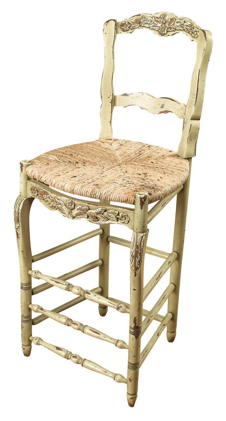Clinton Barstool, Distressed Parchment