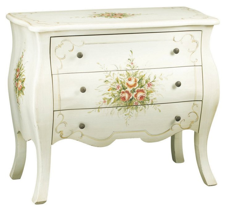 Ivy Bombé Chest, White/Green/Multi