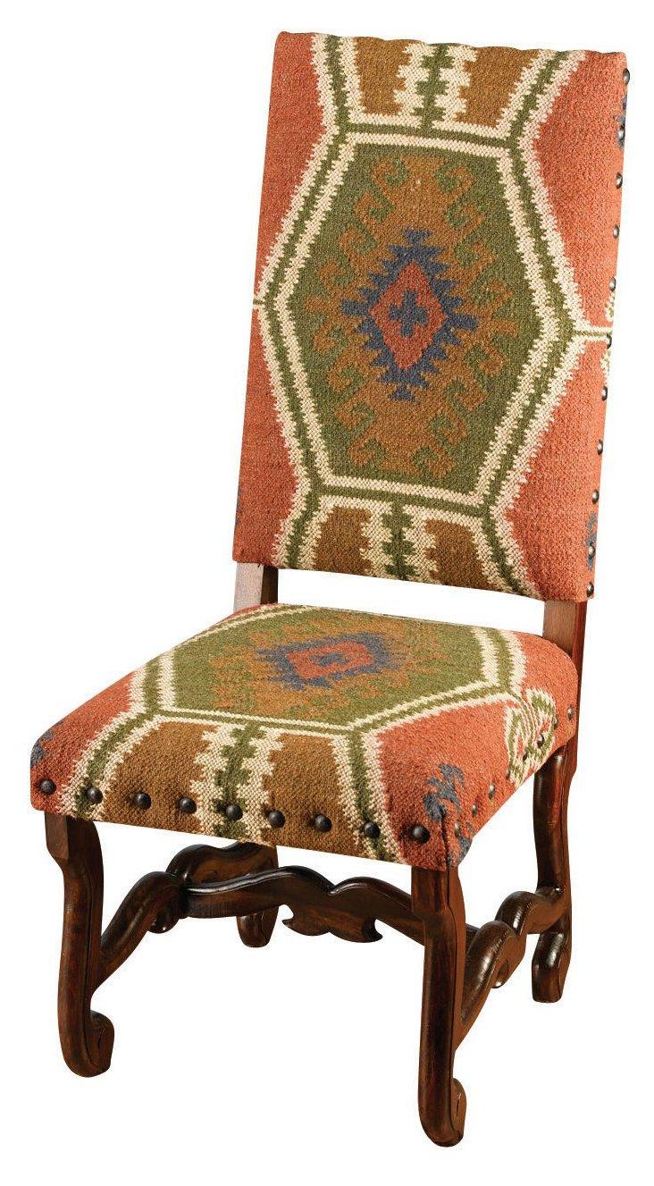 Atticus Chair, Rust/Walnut