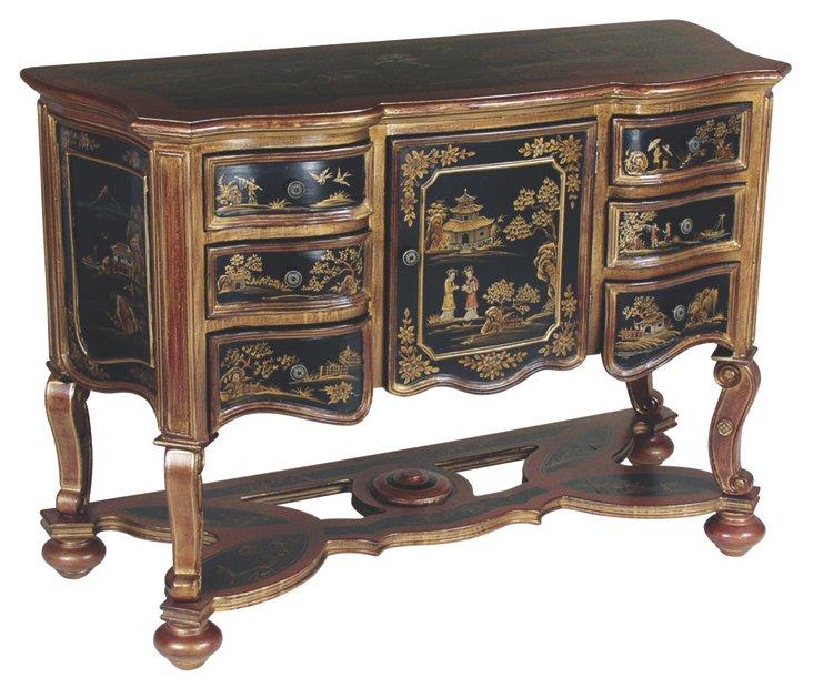Yara 6-Drawer Cabinet, Black/Multi