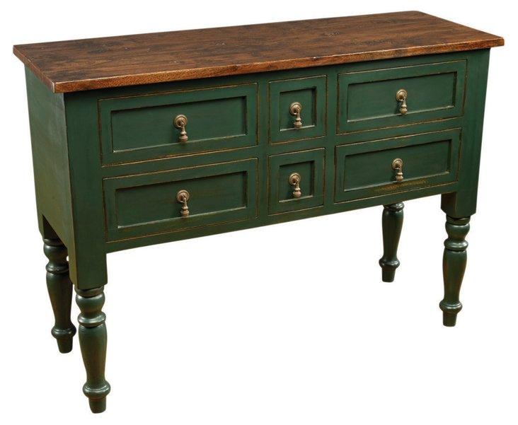 Geiger Cabinet, Hunter Green