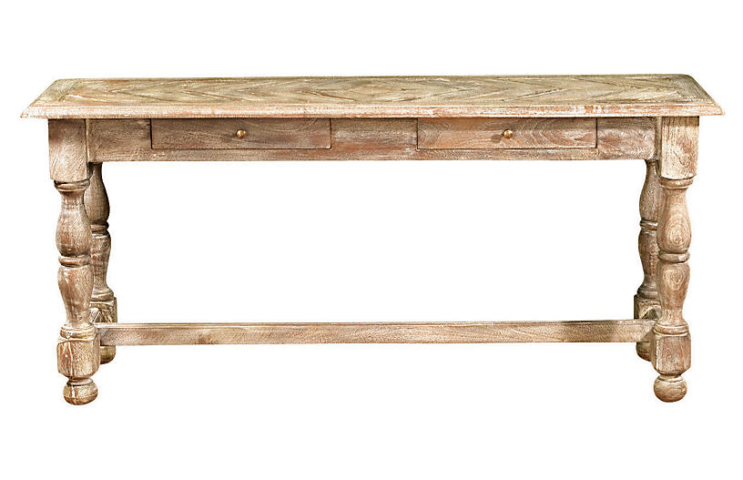 Eve 2-Drawer Console, Natural