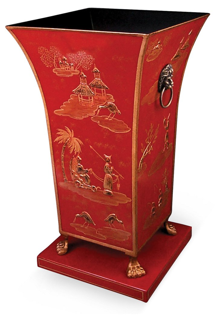"23"" Classic Umbrella Stand, Red"