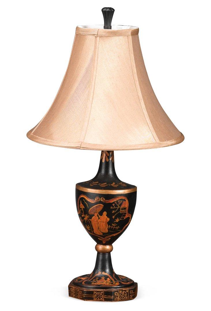 """13"""" Umbrella Lamp, Black"""