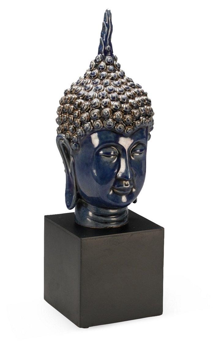 Buddha Head, Blue