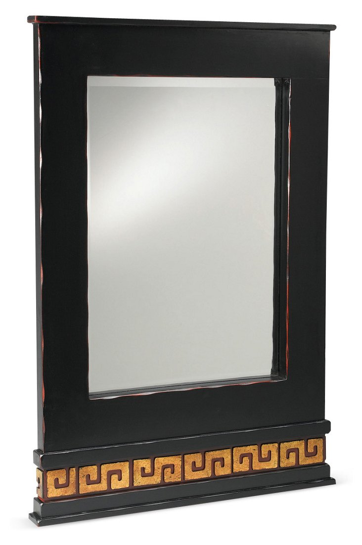 Harlow Mirror, Black/Gold