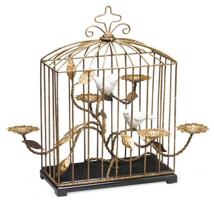 "19"" Birdhouse Candleholder"
