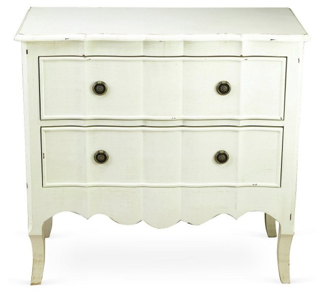 Marnie 2-Drawer Chest, Antiqued White