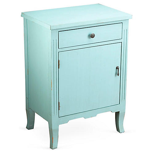 Nelly 1-Door Cabinet, Light Blue