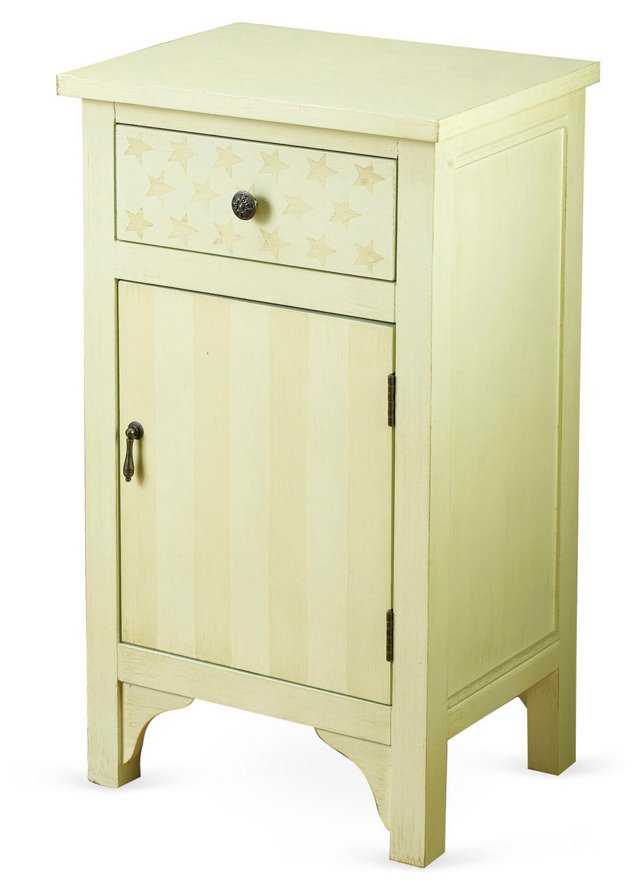 Stars and Stripes Cabinet, Butter/Beige