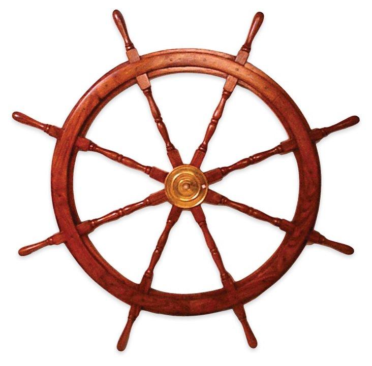 "48"" Ship's Wheel, Brown"