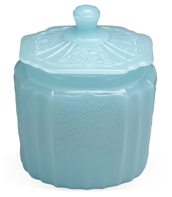 "7"" Bristol Cookie Jar, Milky Blue"
