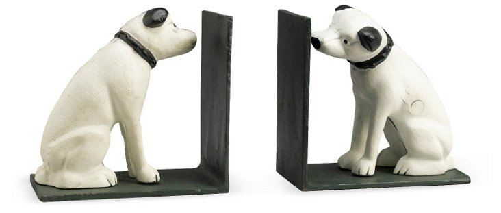 Pair of Sitting Dog Bookends