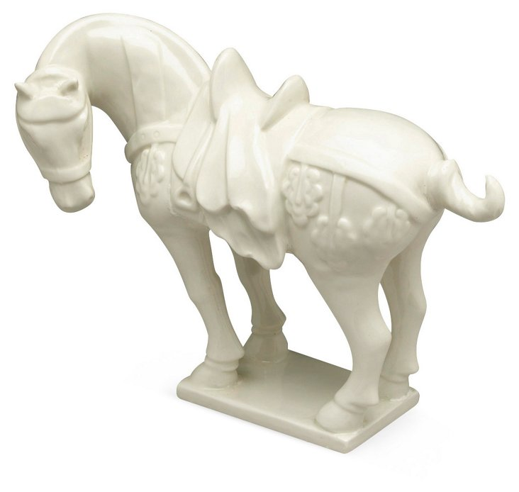 Standing Horse, White