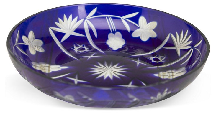 """7"""" Etched Dish, Blue"""