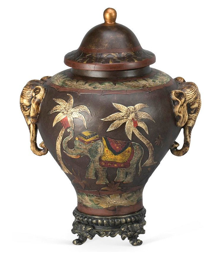 Elephant Jar, Brown