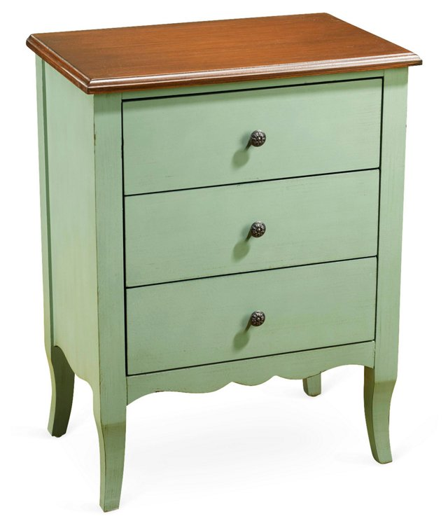 Celina 3-Drawer Chest, Green