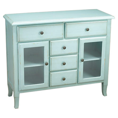 Levesque 2-Door Sideboard, Light Blue