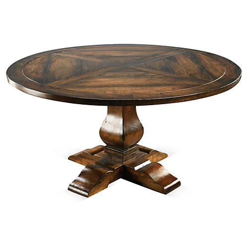 Clara Round Dining Table, Pecan