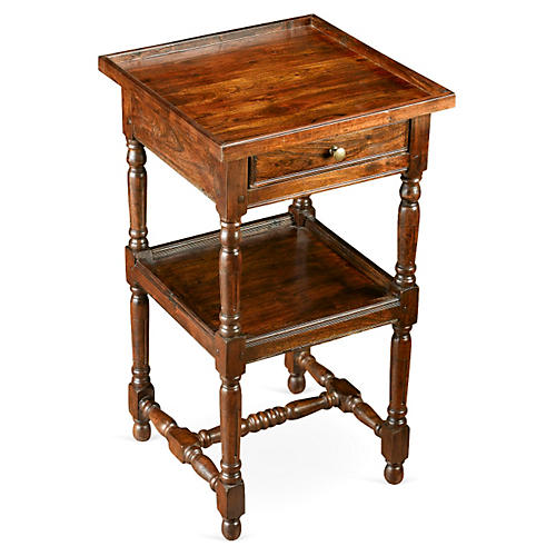 Lydia Colonial Nightstand, Pecan