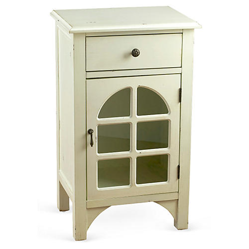 Lawrence Cabinet, Distressed White