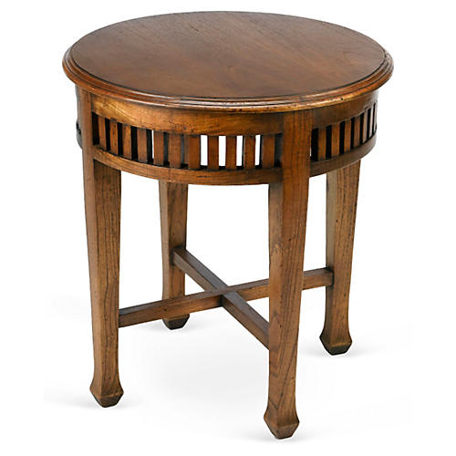 Bella Round Side Table, Walnut