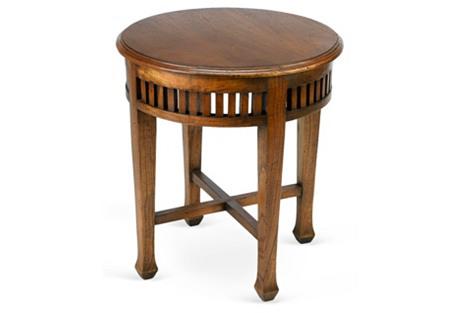 Frances Round Side Table, Walnut
