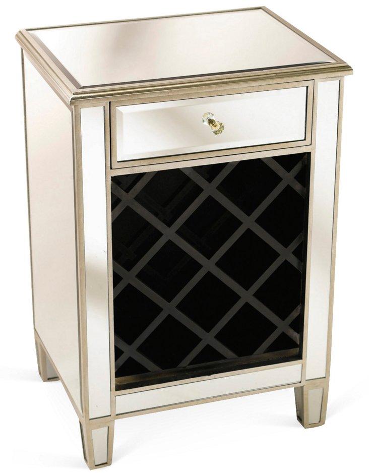 Frances Wine Cabinet, Silver