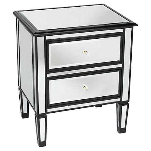 Lila Mirrored Nightstand