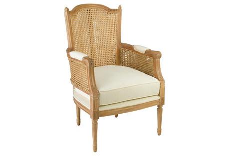Noreen Linen Armchair, Natural