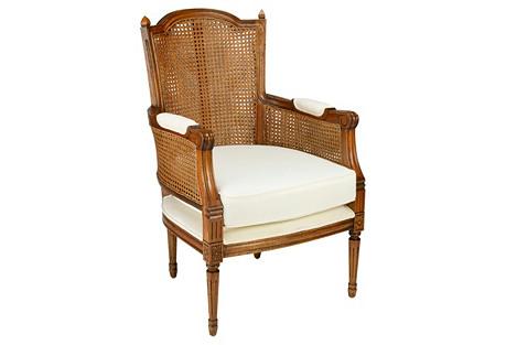 Noreen Linen Armchair, Caramel