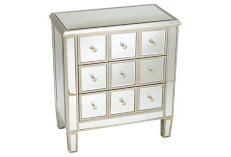 Vienna Nightstand, Mirrored