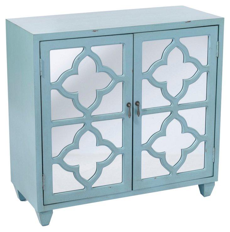 Trisha 2-Door Cabinet, Sky Blue